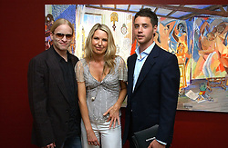 Left to right,  JAMIE WOOD, SERENA MORTON and HARRY LANGTON at a private view of artist Damian Elwes work 'Artists Studios' held at Scream, 34 Bruton Street, London W1 on 29th June 2006.<br />