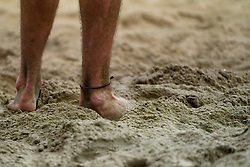 04-01-2020 NED: NK Beach volleyball Indoor, Aalsmeer<br /> ankle chain strap item beach sand
