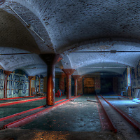 An old bowling hall in East Berlin