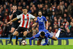 Nico Yennaris of Brentford tackles Ruben Loftus-Cheek of Chelsea - Mandatory by-line: Jason Brown/JMP - 28/01/2017 - FOOTBALL - Stamford Bridge - London, England - Chelsea v Brentford - Emirates FA Cup fourth round