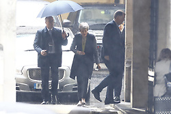 © Licensed to London News Pictures. 13/06/2019. London, UK. Prime Minister Theresa May arrives at Parliament. Candidates for the leadership of the Conservative Party will face the first round of voting in Parliament today. Photo credit: Peter Macdiarmid/LNP