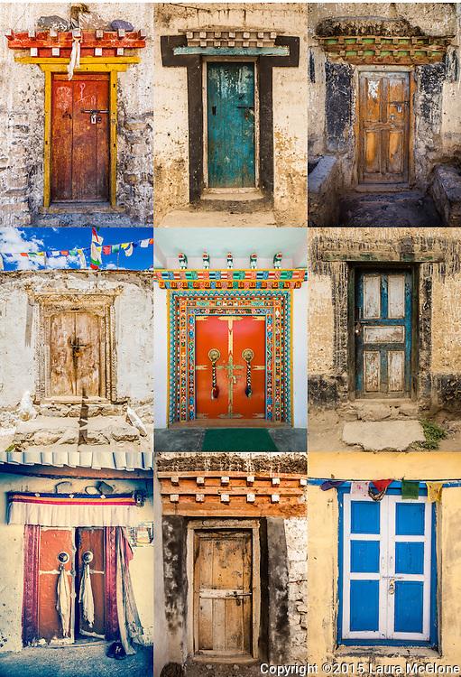 Tibetan Doorways Collage Tibet