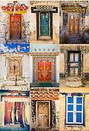Tibetan Doorways Collage Tibet