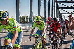 Rider of Tinkoff (RUS) at the final lap (1000M) from the finish line on the John Frost Bridge 'A Bridge Too Far', stage 3 from Nijmegen to Arnhem running 190 km of the 99th Giro d'Italia (UCI WorldTour), The Netherlands, 8 May 2016. Photo by Pim Nijland / PelotonPhotos.com | All photos usage must carry mandatory copyright credit (Peloton Photos | Pim Nijland)