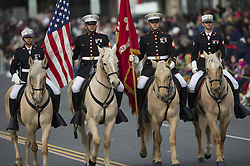 Honour guards riding horses are seen during the 124th Annual Rose Parade in Pasadena, California, the United States, January 1, 2013. Photo by Imago / i-Images...UK ONLY