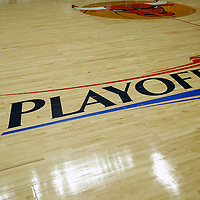 16 April 2011: Playoffs sign on the United Center court during the Chicago Bulls 104-99 victory over the Indiana Pacers at the United Center, Chicago, Illinois, USA.