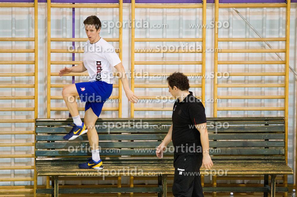 Simon Razgor and Sokol Kadrija during the Training Camp before IHF Men's Handball World Championship Spain 2013 on January 9, 2013 in Zrece, Slovenia. (Photo By Vid Ponikvar / Sportida.com)