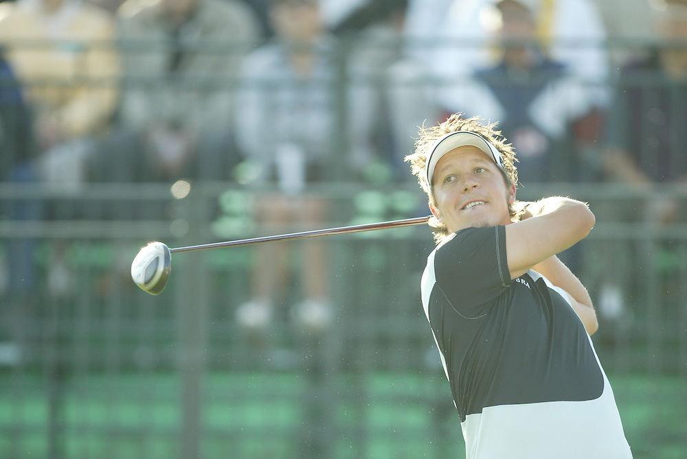 Fredrik Jacobson.2004 Bob Hope Chrysler Classic.Fifth Round.Palmer Course at PGA West.Sunday, January 25 2004..Photograph by Darren Carroll
