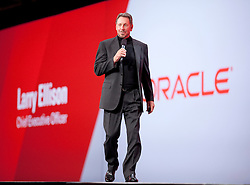Oracle CEO Larry Ellison gives a keynote presentation on the 3rd day of  the Oracle OpenWorld conference in San Francisco, Calif.   Ellison said they plan to grow their business through their cloud computing products and services.