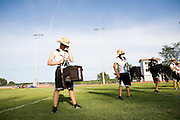 The Oregon Marching Band practices in Suttons Bay, Michigan on July 7, 2010. The band practices all week for the final performance of the season.