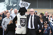 Derby County Chairman Mel Morris mingles with Derby County fans during the EFL Sky Bet Championship match between Derby County and West Bromwich Albion at the Pride Park, Derby, England on 5 May 2019.