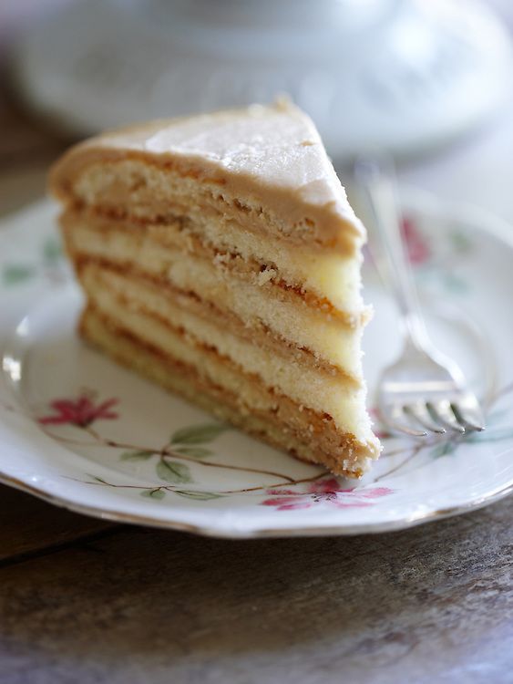 Six-Layer Caramel Cake.  Around the Southern Table Cookbook by Rebecca Lang