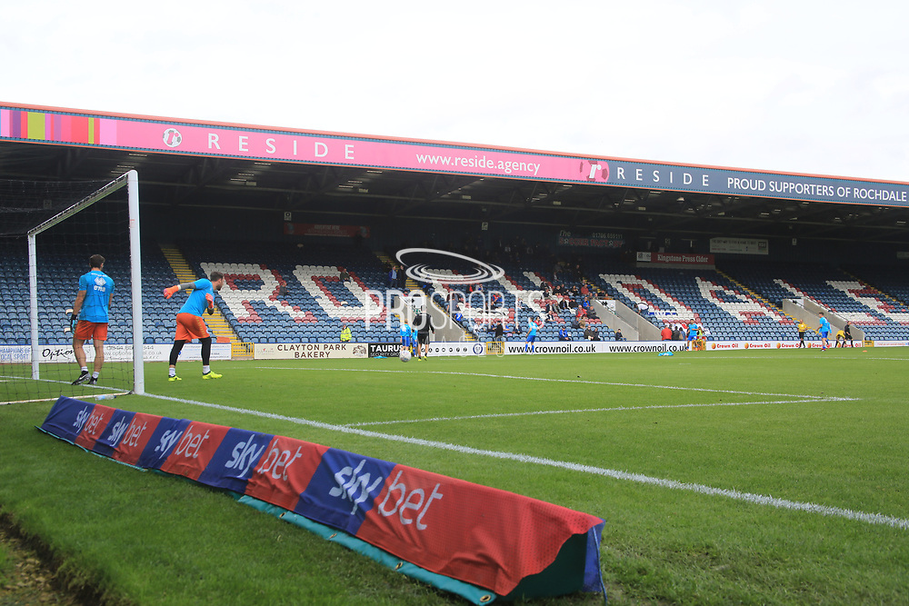 Sky Bet advertising logo during the EFL Sky Bet League 1 match between Rochdale and Gillingham at Spotland, Rochdale, England on 15 September 2018.