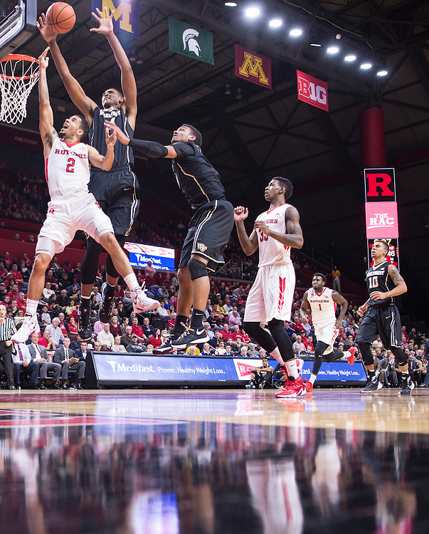 The Rutgers Scarlet Knights take on Wake Forest at the RAC on Monday night, November 30, 2015.<br />