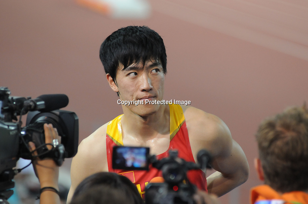 May 24, 2008, Beijing, China, Athens Olympic champion Liu Xiang of China clocked 13.18 seconds to win the men's 110m hurdles at the Good Luck Beijing 2008 China Athletics Open in the National Stadium, also known as the Bird's Nest. The competition is the last test event in the venue to prepare for the upcoming 2008 Beijing Olympics to be held in August.
