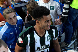 Curtis Nelson of Plymouth Argyle celebrates the win over Portsmouth to send his side to the League Two Playoff Final - Mandatory by-line: Robbie Stephenson/JMP - 15/05/2016 - FOOTBALL - Home Park - Plymouth, England - Plymouth Argyle v Portsmouth - Sky Bet League Two play-off semi-final second leg