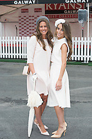 31/07/2014 Repro Free Fionnuala Cleary Kildysart Co Clare and Lorena Dunne from Abbeyknockmoy at the Anthony Ryans Best Dressed Ladies day  at the Galway Races Summer Festival  .Photo:Andrew Downes