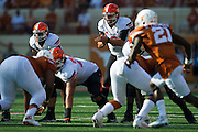 AUSTIN, TX - SEPTEMBER 26:  Mason Rudolph #2 of the Oklahoma State Cowboys calls a play at the line of scrimmage against the Texas Longhorns on September 26, 2015 at Darrell K Royal-Texas Memorial Stadium in Austin, Texas.  (Photo by Cooper Neill/Getty Images) *** Local Caption *** Mason Rudolph