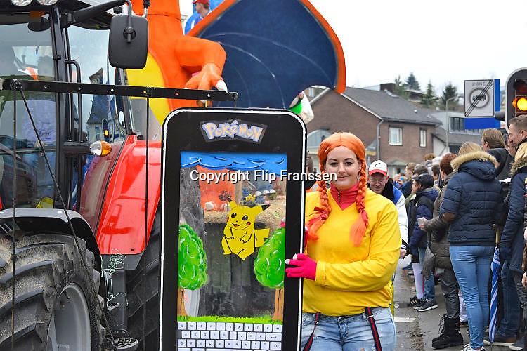 Nederland, Groesbeek, 26-2-2017 Carnavalsoptocht . PokemonFoto: Flip Franssen