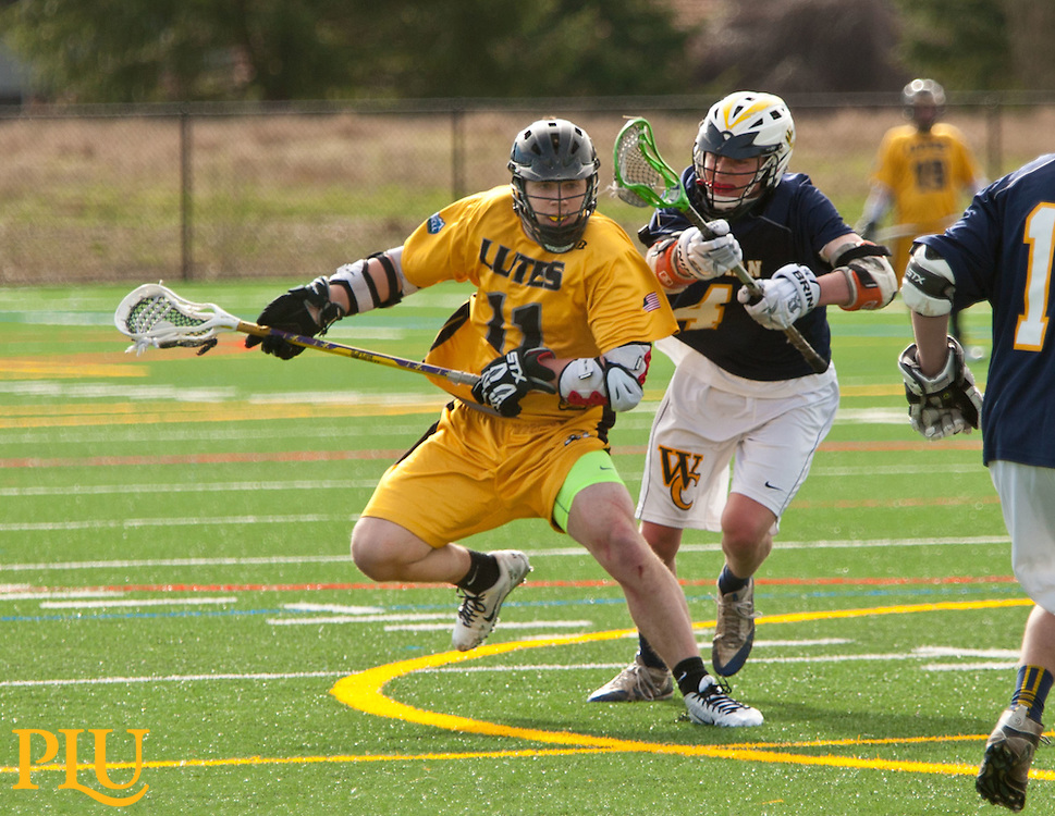 Men's lacrosse vs. Whitman at PLU on Sunday, Feb. 22, 2015. (Photo/John Froschauer)
