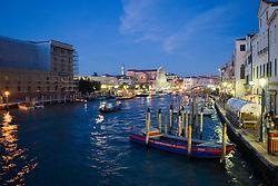 Grand Canal at night, Venice, Italy / Italia December 4, 2007.