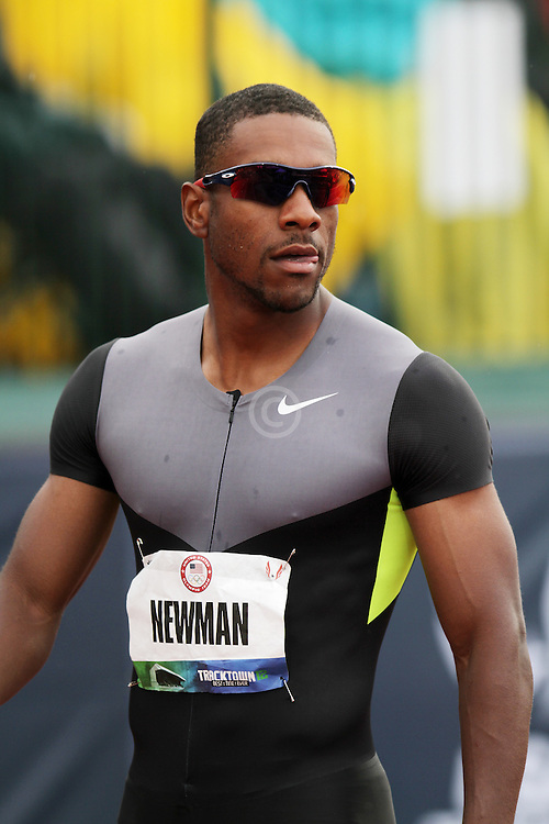 Olympic Trials Eugene 2012: men's 100 meters, Calesio Newman