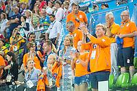 RIO DE JANEIRO -  Teleurstelling bij de Koninklijke familie en Maurits Hendriks na de verloren finale tussen de dames van Nederland en  Groot-Brittannie in het Olympic Hockey Center tijdens de Olympische Spelen in Rio.   COPYRIGHT KOEN SUYK