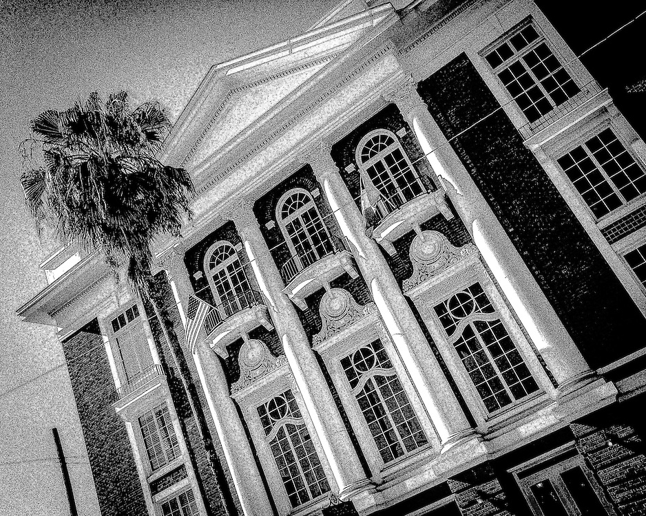 The Italien Club, Ybor City (Tampa), Florida. Black & white. Photo by Richard M. Porter