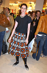 Model ERIN O'CONNOR at a party to celebrate the opening of the new H&M Flagship Store at 17-21 Brompton Road, London SW3 on 23rd March 2005.<br />