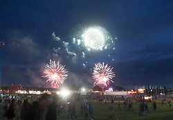 Fireworks<br /> , Sunday, T in the Park 2014.<br /> © Michael Schofield.