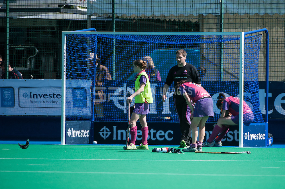 Investec Women's Hockey League Finals Weekend, Sonning Lane, Reading, UK on 13 April 2014. Photo: Simon Parker