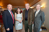 Padraig O' Callaghan Chairman of SCCUL Enterprises,  andTrish Murphy SCCUL, John Quiin Author and  Liam Bluett is General Manager SCCUL Enterprises, at the Launch of the SCCUL Sanctuary at Kilcuan, Clarinbridge.<br /> Photo:Andrew Downes
