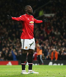 Romelu Lukaku of Manchester United celebrates after scoring his sides fourth goal - Mandatory by-line: Matt McNulty/JMP - 18/11/2017 - FOOTBALL - Old Trafford - Manchester, England - Manchester United v Newcastle United - Premier League