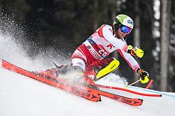 26.01.2020, Streif, Kitzbühel, AUT, FIS Weltcup Ski Alpin, Slalom, Herren, im Bild Marc Digruber (AUT) // Marc Digruber of Austria in action during his run in the men's Slalom of FIS Ski Alpine World Cup at the Streif in Kitzbühel, Austria on 2020/01/26. EXPA Pictures © 2020, PhotoCredit: EXPA/ Johann Groder