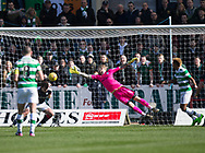 Dundee&rsquo;s Paul McGowan heads Celtic&rsquo;s Dedryck Boyata's effort off the line - Dundee v Celtic in the Ladbrokes Scottish Premiership at Dens Park, Dundee.Photo: David Young<br /> <br />  - &copy; David Young - www.davidyoungphoto.co.uk - email: davidyoungphoto@gmail.com