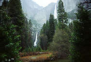 Upper and Lower Yosemite Falls, Yosemite Nat'l Park, Ca.