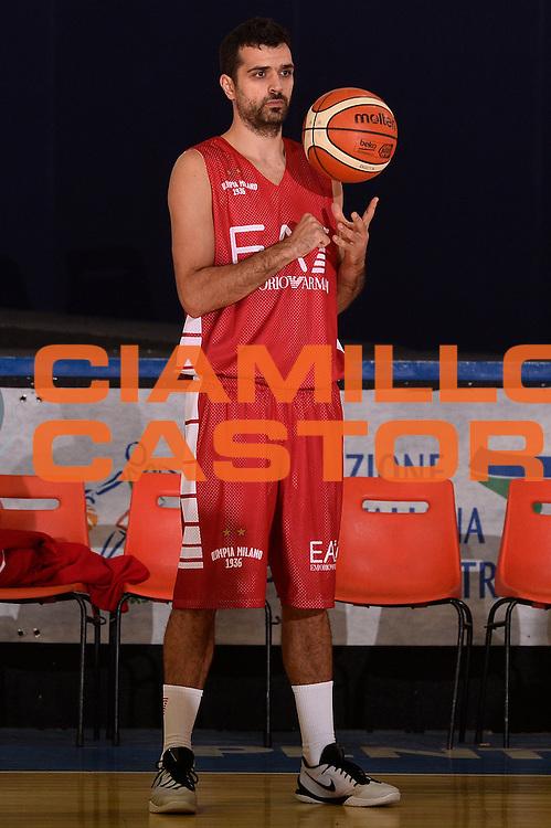 Krunoslav Simon <br /> EA7 Emporio Armani Olimpia Milano allenamento <br /> Lega Basket Serie A 2016/2017<br /> Bormio 30/08/2016<br /> Foto Ciamillo-Castoria