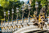 Pont Alexandre III Alexander the third bridge in the city of Paris in france