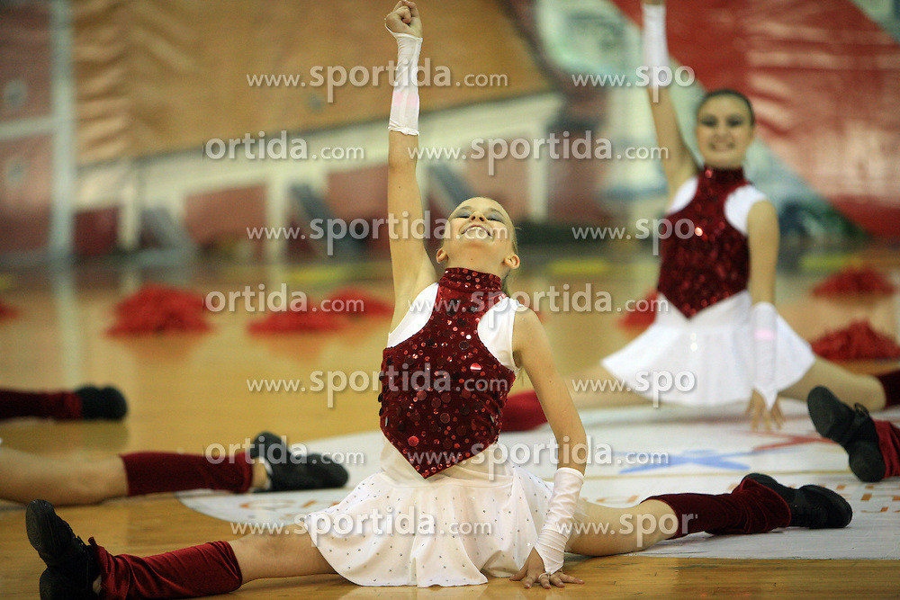 Power Girls, Poland at European Cheerleading Championship 2008, on July 5, 2008, in Arena Tivoli, Ljubljana, Slovenia. (Photo by Vid Ponikvar / Sportal Images).