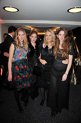 Left to right, ANNA BOGLIONE, LARA BOGLIONE, GAEL BOGLIONE and RUBY BOGLIONE at Quintessentially's 10th birthday party held at The Savoy Hotel, London on 13th December 2010.