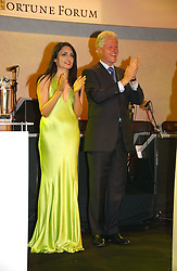 RENU MEHTA and BILL CLINTON at the Fortune Forum Dinner held at Old Billingsgate, 1 Old Billingsgate Walk, 16 Lower Thames Street, London EC3R 6DX<br /><br />NON EXCLUSIVE - WORLD RIGHTS