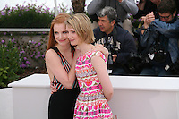 Jessica Chastain, Mia Wasikowska at the Lawless film photocall at the 65th Cannes Film Festival. The screenplay for the film Lawless was written by Nick Cave and Directed by John Hillcoat. Saturday 19th May 2012 in Cannes Film Festival, France.