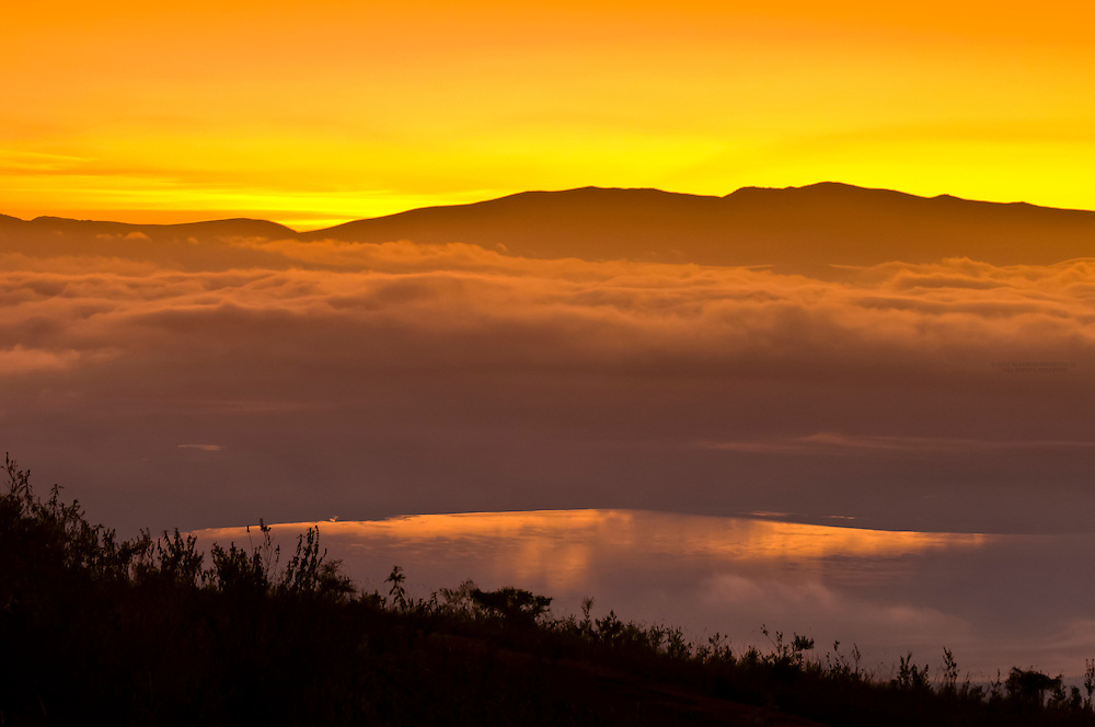 Ngorongoro Crater at sunrise, Ngorongoro Conservation Area, Tanzania