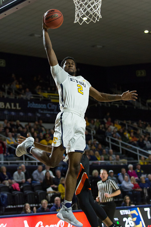 December 28, 2017 - Johnson City, Tennessee - Freedom Hall: ETSU forward David Burrell (2)<br /> <br /> Image Credit: Dakota Hamilton/ETSU