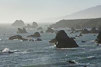 Rugged steastacks rocks and bluffs of Sonoma Coast State Park, California
