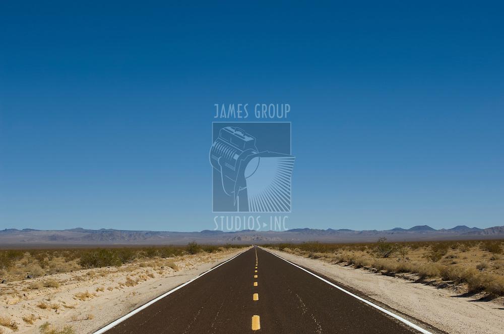 Desolate road in the desert
