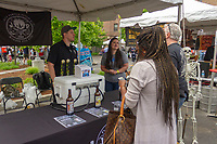 The 5th annual Hyde Park Brew Fest was held Saturday and Sunday, June 5th and 6th, 2018. Participants were treated to a day of music and beer tastings from local breweries with a headline performance by the legendary D.J. Jazzy Jeff. The event was sponsored by the Kimbark Beverage Shoppe, the Hyde Park Chamber of Commerce, Courvosoier and Effen.<br /> <br /> 0107 &ndash; Keifer and Desiree Fillinger of Jolly Pumpkin Artisan Ales talk with Dave Latella and Nancy Taylor about their beers.<br /> <br /> Please 'Like' &quot;Spencer Bibbs Photography&quot; on Facebook.<br /> <br /> Please leave a review for Spencer Bibbs Photography on Yelp.<br /> <br /> Please check me out on Twitter under Spencer Bibbs Photography.<br /> <br /> All rights to this photo are owned by Spencer Bibbs of Spencer Bibbs Photography and may only be used in any way shape or form, whole or in part with written permission by the owner of the photo, Spencer Bibbs.<br /> <br /> For all of your photography needs, please contact Spencer Bibbs at 773-895-4744. I can also be reached in the following ways:<br /> <br /> Website &ndash; www.spbdigitalconcepts.photoshelter.com<br /> <br /> Text - Text &ldquo;Spencer Bibbs&rdquo; to 72727<br /> <br /> Email &ndash; spencerbibbsphotography@yahoo.com<br /> <br /> #killyourcity #citykillerz #illgramers #way2ill #agameoftones #urbex #createexplore #exploretocreate #streetactivityteam #streetdreamsmag #neverstopexploring #featuremeinstagood #igersone #shoot2kill #streetshared #streetmobs #urbanphotography #streetphotography #streetexploration #urbanandstreet #imaginatones #streettogether #streetmagazine #streetmobs #peopleinsquare #moodygrams #illgrammers #instamagazine #twgrammers #shotaroundmag #illkillers #killergrams #superhubs #urbanromantix #livefolk #shotaward #_heater #yngkillers #shotzdelight #1stinstinct  #heatercentral <br /> #agameoftones #ig_masterpiece #ig_exquisite #ig_shotz #global_hotshotz #superhubs #main_vision #master_shots #exclusive_shots #hubs_united #jaw_dropping_shotz #worldshotz #theworldshotz #pixel_ig #photographyislifee #photographyislife #photographysouls #photographyeveryday #photograph