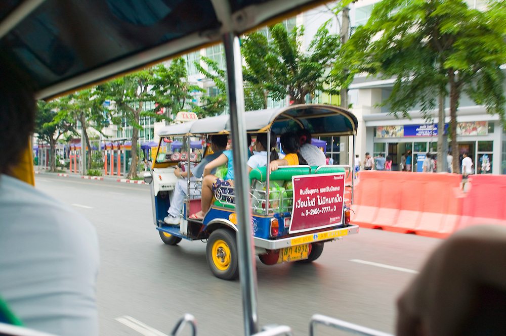 Tuk Tuk on street in Bangkok Thailand&amp;#xA;<br />