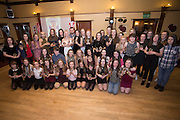 Prizewinners at Monifieth Ladies presentation evening at the Panmure Hotel, Monifieth, with former St Johnstone, Dundee United and Dundee player Danny Griffin who handed out the awards<br /> <br />  - &copy; David Young - www.davidyoungphoto.co.uk - email: davidyoungphoto@gmail.com