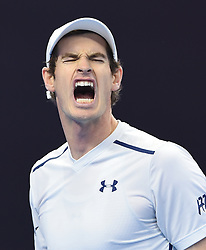 BEIJING, Oct. 9, 2016  Andy Murray of Britain reacts during the men's singles final against Grigor Dimitrov of Bulgaria at the China Open tennis tournament in Beijing, capital of China, Oct. 9, 2016. Murray claimed the title of the event after beating Dimitrov 2-0. (Credit Image: © Li Wen/Xinhua via ZUMA Wire)